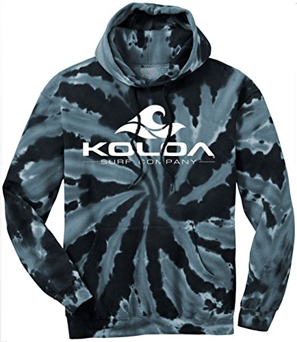 Koloa Surf Wave Logo Hoodies - Hooded Sweatshirt, 2XL-Black Tie-Dye (Cool Printed Hoodies compare prices)
