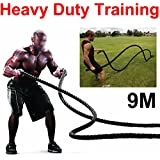 "Popamazing Battle Rope Body Strength Sport Exercise Fitness Bootcamp - 30' x 1.5"" Training Rope"