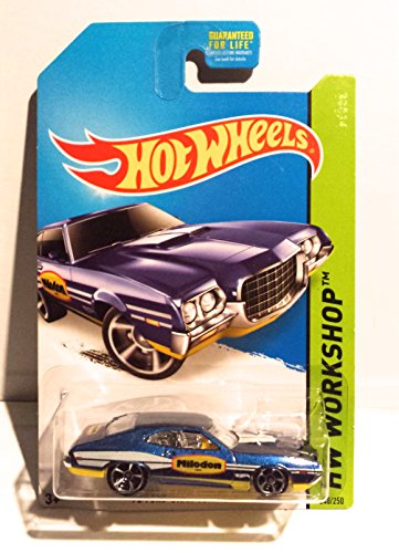 2014 Hot Wheels Hw Workshop 72 Ford Grand Torino Sport Blue Milodon