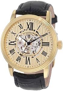 Stuhrling Original Men's 1077.333531 Classic Delphi Venezia Automatic Skeleton Black Watch