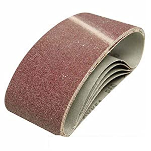 Silverline 901495 5 bandes abrasives 75 x 457 mm Grain 120