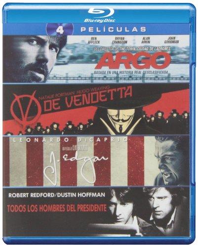 Pack: Argo + V De Vendetta + J. Edgar + Todos Los Hombres Del Presidente [Blu-ray]