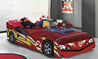 No 2 Red Childrens Car Beds Boys Racing Red Kids Car Bed Frame.