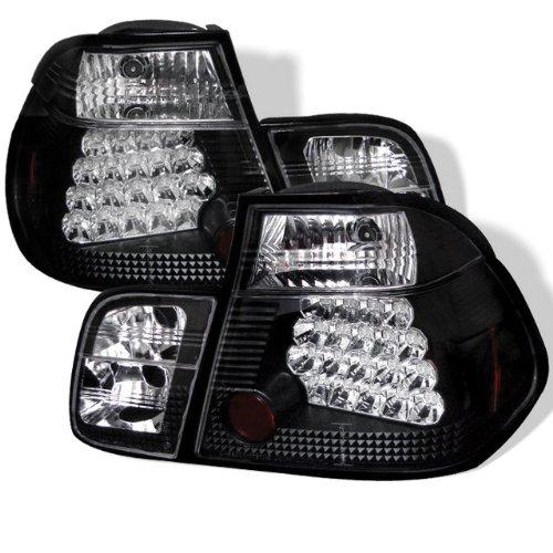 Redlines Tl-Be4699-4D-Led-Jm Black Medium Led Tail Light For Bmw E46 3-Series'99-'01 4Dr - Pair