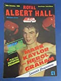Royal Albert Hall Mark Kaylor Herol Bomber Graham Boxing Program 10/16/84