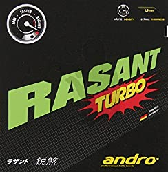 Andro Rasant Turbo 2.1 mm Table Tennis Rubber (Red)