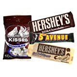 Ultimate Hershey Pack includes Hershey's Milk Chocolate Bar 43 g/ Hershey's Cookies-n-Crème Bar 43 g/ Hershey's 5th Avenue Bar 56g/ Hershey's Kisses Milk Chocolate 99 g