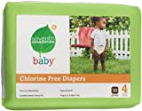 Seventh Generation Chlorine Free Baby Diapers, Stage 4 (22-37 Lbs.), 30 Count (Pack of 4)