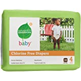 Seventh Generation Chlorine Free Baby Diapers, Stage 4 (22-37 Lbs.), 30 Count (Pack of 4) ~ Seventh Generation