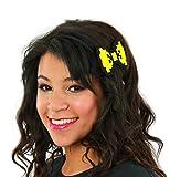 Dancing Participle Women's 8-bit Hair Bow Yellow