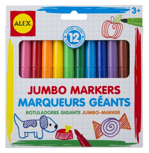 ALEX Toys Artist Studio 12 Washable Jumbo Markers - 1