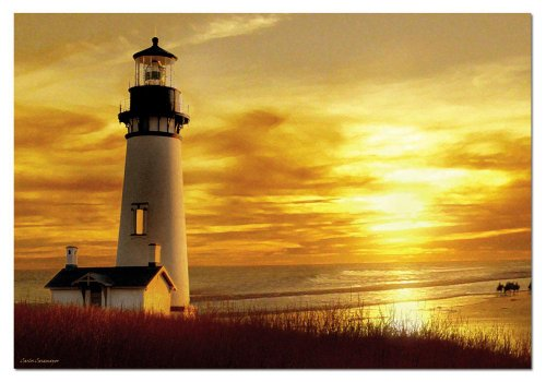 515%2BLj3l5AL Cheap  1,000 Piece Puzzle   Sunset Lighthouse