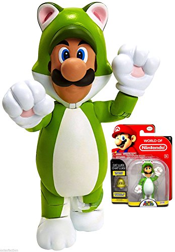World of Nintendo Cat Luigi Action Figure 4 Inch