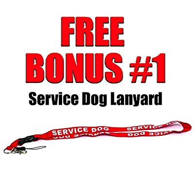 Service Dog Leash with Free Kit - Receive 3 Free Service Dog Bonuses Including: Free Service Dog Collar Tag, Lanyard, and Patch. Limit Time Offer. 100% Lifetime Guarantee on All Service Dog Gear.