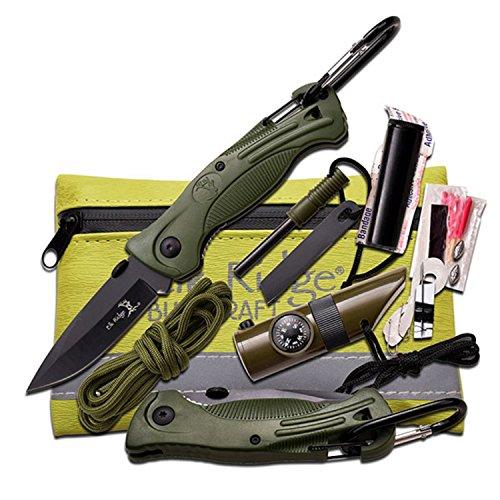 Elk-Ridge-ER-PK4G-Survival-Kit-with-Folding-Knife-Green-3-Inch-Closed