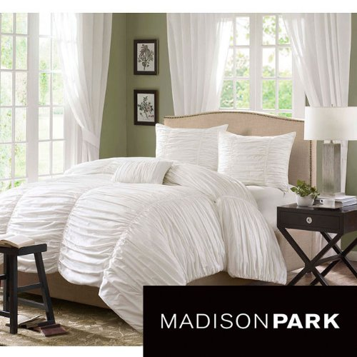 New Bedding Full/ Queen Madison Park Catalina 4-Piece Duvet Cover Set Brand New! front-162105