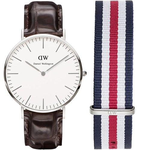 Daniel Wellington York Reloj de hombre y pulsera de recambio 0211DW 0202SET