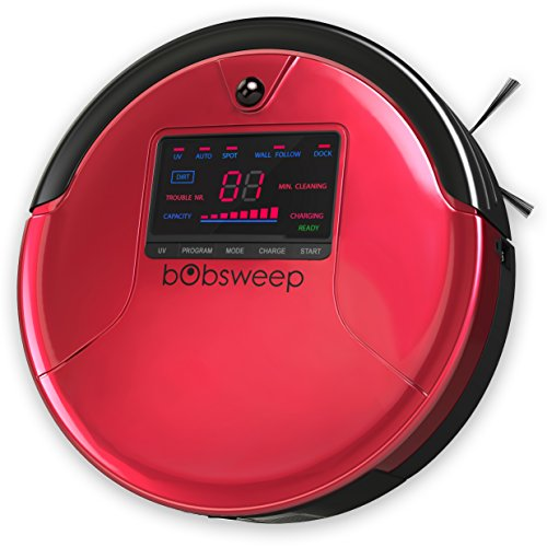 bObsweep PetHair Robotic Vacuum Cleaner and Mop, Rouge (Roomba Mop compare prices)