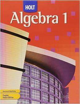 Holt mcdougal algebra 1 homework help