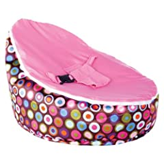 BayB Bean Bag For Babies - Filled Ready To Use - Ships in 24 Hrs (Pink)