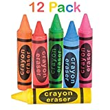 Crayon Shaped Erasers - 12 Pack – Great For Party Bags, Fillers And Stuffers – Great For Teachers To Give As A Prize– By Kidsco