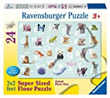 Animal Alphabet Floor Puzzle, 24-Piece