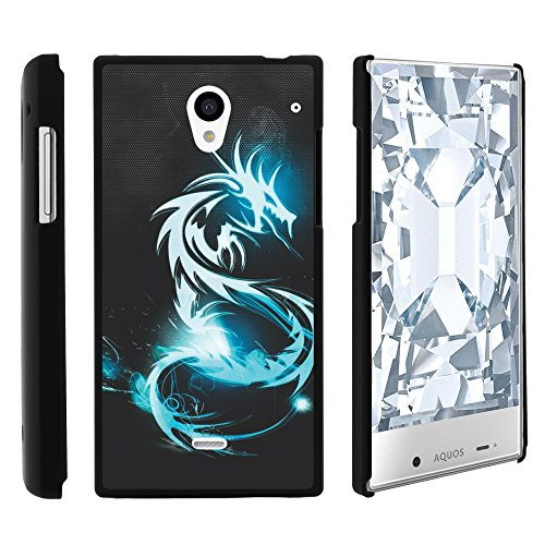Sharp AQUOS Crystal Phone Case, Slim Hard Shell Snap On Case with Custom Images for Sharp AQUOS Crystal 306 SH (Sprint, Boost Mobile, Virgin Mobile) from MINITURTLE | Includes Clear Screen Protector and Stylus Pen - White Dragon (Aqua Sharp Crystal compare prices)