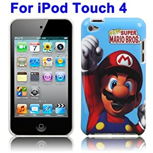 Plastic case custodia cover Super Mario per iPod Touch 4a Generazione