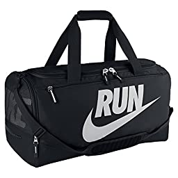 Nike Max Air Pursuit Duffel Bag, Black/Metallic Silver