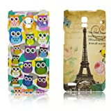 Huawei Ascend P1 U9200 TPU SILICON 2x PARIS + LITTLE OWL Design protection phone bumper Case bag Etui Bumper thematys®
