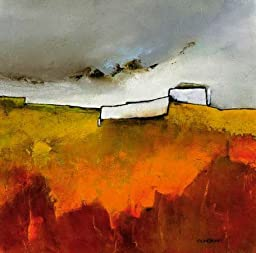 27W x 27H Fascinating Landscape IV by Emiliana Cordaro - Stretched Canvas w/ BRUSHSTROKES