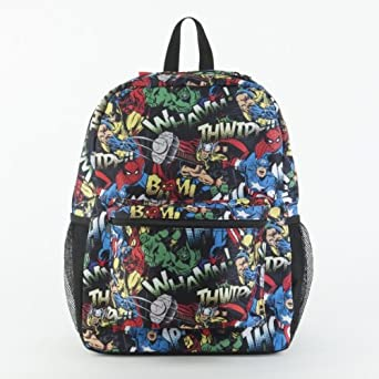 Marvel Comics All Over Print Black Backpack