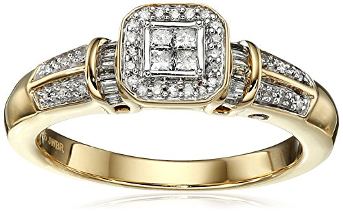 Yellow-Plating-Over-Sterling-Silver-with-Diamond-Promise-Ring-13cttw-H-I-Color-I2-Clarity