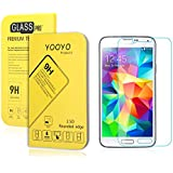 Galaxy S5 i9600 Screen Protector, YooyoTM 0.33mm Tempered Glass Crystal Clear | Slim | Anti Finger Print | Scratch Proof and Light weight Screen Protector for Samsung Galaxy S5