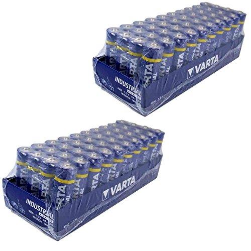 Varta 80 pile alcaline, Mignon, AA, LR06, 1,5 V Industrial, confezione in pellicola trasparente