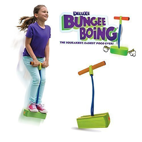 Jumparoo Deluxe Bungee Boing Foam Bouncing Toy – The Squeakiest, Easiest Pogo Ever! For Kids 3 Years & Up