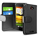 Everydaysource® compatible with HTC One S Wallet Black Leather Case with Card Holder