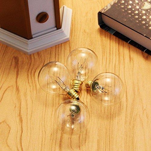 oxyled g40 25ft globe lichterkette mit 25 transparenten gl hbirne und 220v eu stecker. Black Bedroom Furniture Sets. Home Design Ideas