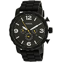 Fossil Nate Analog Chronograph Black Dial Men's Watch - JR1425
