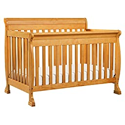 DaVinci Kalani 4-in-1 Convertible Crib with Toddler Rail, Honey Oak