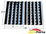 bbq-parts PPZ242 (2-pack) Brinkmann Gas Grill Heat Plate Replacement for Lowes Model Grills (16 3/8