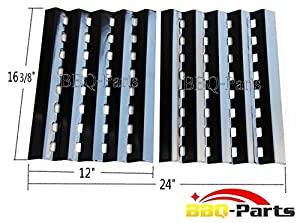 90242 (2-pack) Brinkmann Gas Grill Heat Plate Porcelain Steel Heat Shield Replacement for... by BBQ Parts