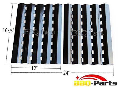 """90242 (2-Pack) Brinkmann Gas Grill Heat Plate Replacement For Mcm, Lowes Model Grills (16 3/8"""" X 12"""" Each)"""