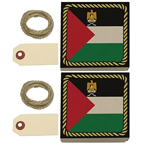 Flag of Palestine Kraft Gift Boxes Set of 2
