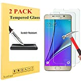 Galaxy Note 4 Screen protector, [2 Pack] Asstar [Tempered Glass] Crystal Clear 2.5D Ultra Clear 9H Hardness Bubble Free Screen Protector for Galaxy Note 4 (2 PACK)