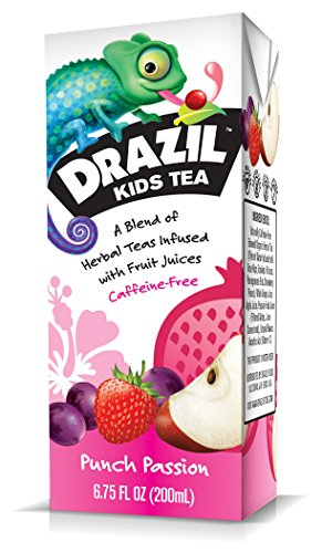 Drazil Kids Tea, Punch Passion, 6.75-Ounce (Pack Of 32)