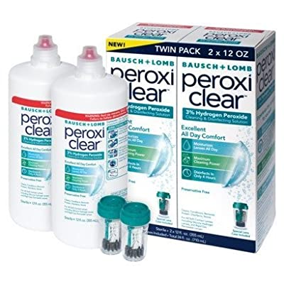 Bausch + Lomb Peroxi Clear, Cleaning & Disinfecting Solution, 2-pack, 12 Fl. Oz Each