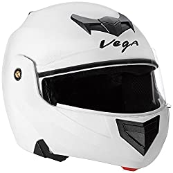 Vega Crux Flip-up Helmet (White, M)