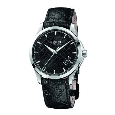 Gucci Men's YA126413 Gucci Timeless Black Diamond Pattern Dial Watch from Gucci