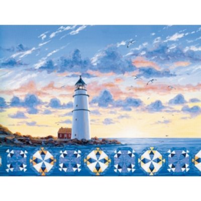 Cheap SunsOut Lighthouse Quiltscape 500pc Jigsaw Puzzle by Rebecca Barker (B0052TJY9M)
